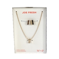 Joe Fresh Interchangeable Rings Pendant Necklace Set of 5