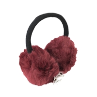 Faux Fur Earmuffs Wired Headphones