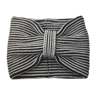 Kate Spade Plaited Rib Striped Neckwarmer