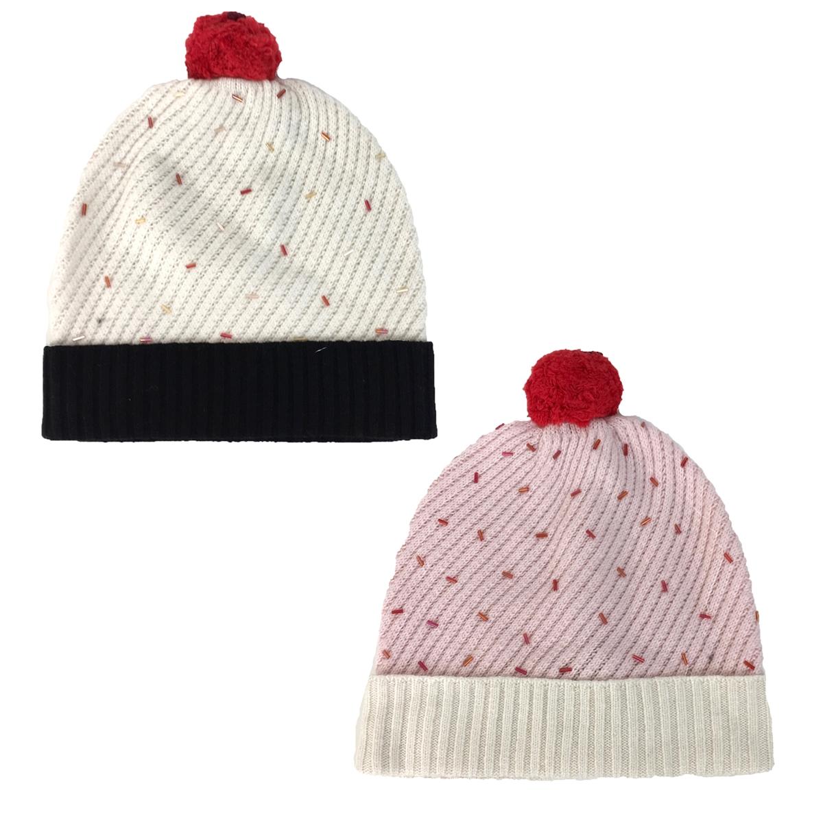 7870c89bd2c Kate Spade Cupcake Pom Pom Knit Beanie Hat