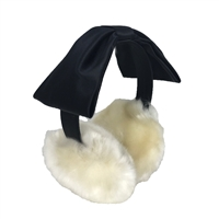 Kate Spade Satin Bow Faux Fur Earmuffs