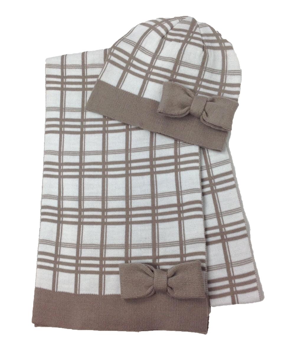 Kate Spade Plaid Muffler Scarf   Beanie Hat Boxed Set ab58e7affa6
