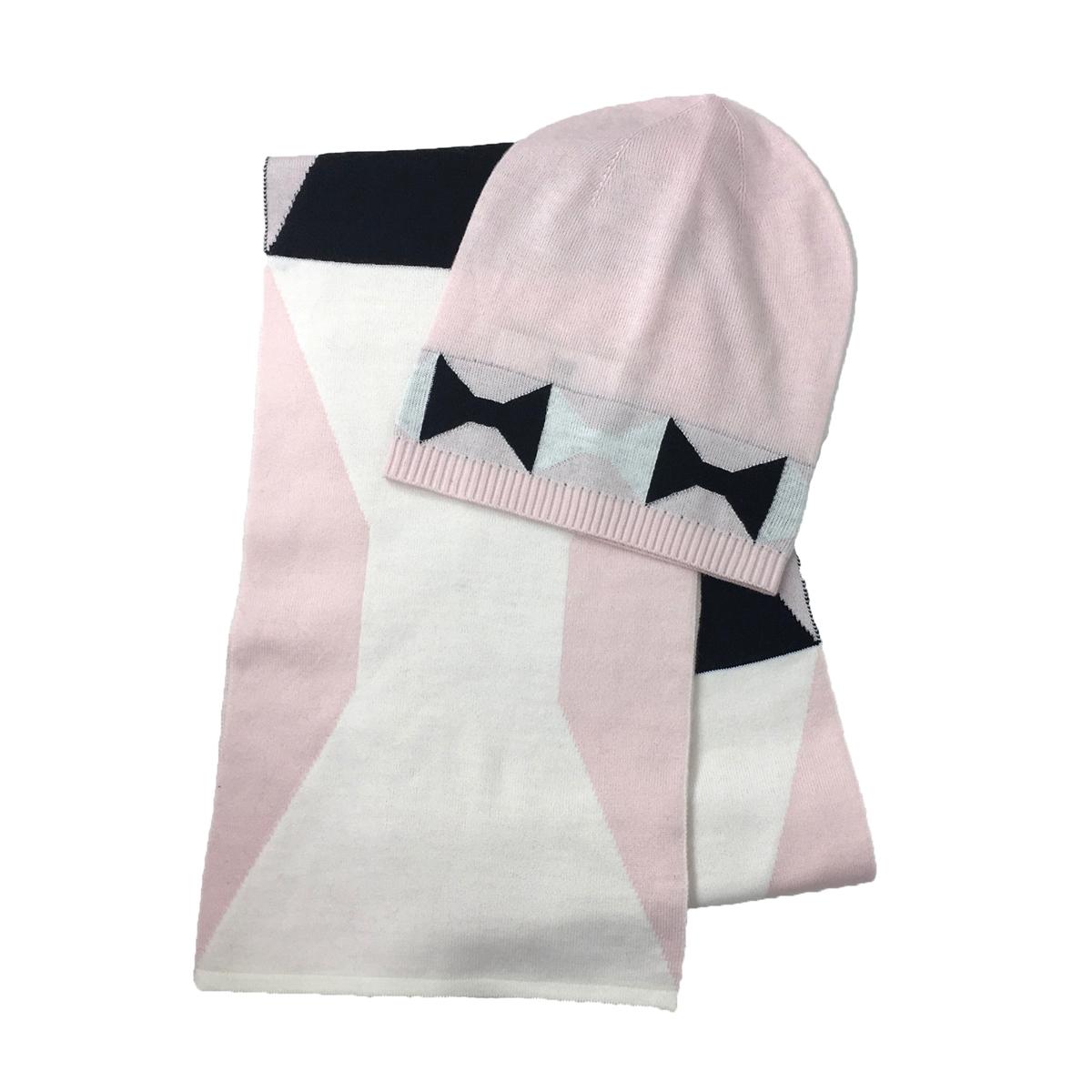 f90a1084d0e Kate Spade Bow Muffler Scarf   Beanie Hat Boxed Set