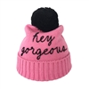 Kate Spade Hey Gorgeous Pom Pom Beanie Hat