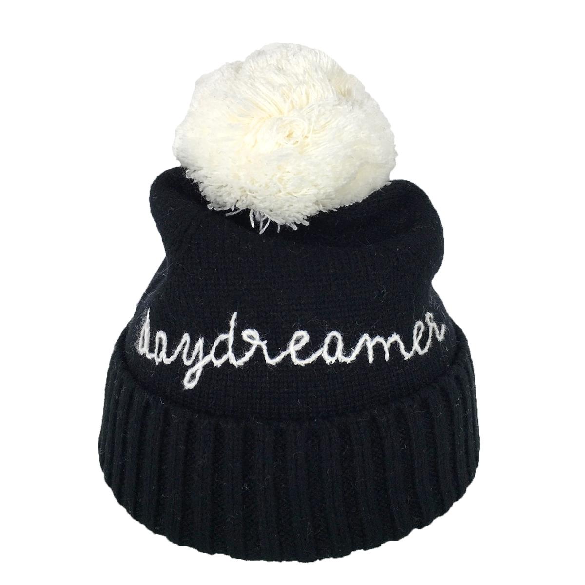 1879477c1 Kate Spade Daydreamer Pom Pom Beanie Hat, Black/Cream