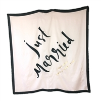 Kate Spade Just Married Wedding Belles Bridal Silk Scarf