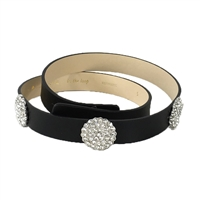 Kate Spade In The Loop Pave Bright Spot Leather Belt