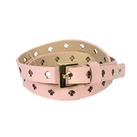 Kate Spade Cut Out Spade Skinny Leather Belt