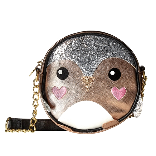 Luv Betsey Johnson Glitter Penguin Round Crossbody