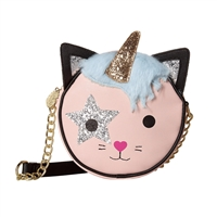 Luv Betsey Johnson Glitter Unicorn Round Crossbody
