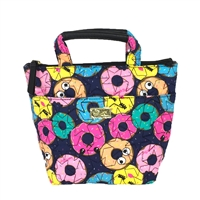 Luv Betsey Johnson Donut Print Insulated Lunch Mini Tote