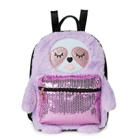 Luv Betsey Johnson Maggie Sloth Faux Fur Backpack