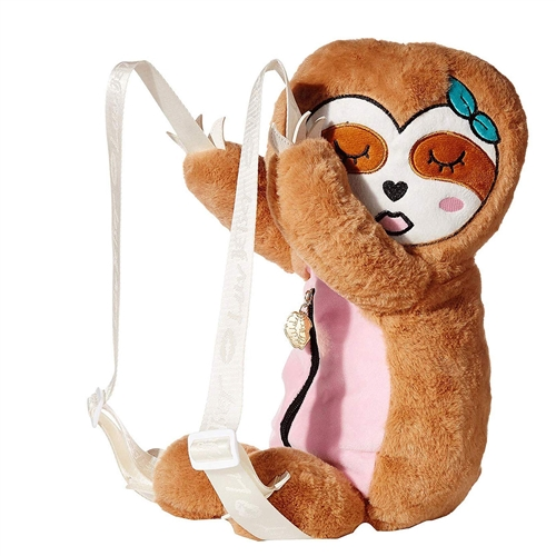 Luv Betsey Johnson Manny Sleeping Sloth Stuffed Animal Backpack