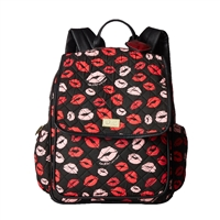 Luv Betsey Johnson Pucker Up Lips Tech Backpack
