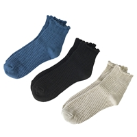Lucky Brand Scalloped Cuff Ankle Sock