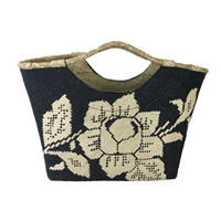 Banago Liliana White Rose Straw Mini Tote