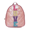OMG! Accessories Quilted Puffer Love Mini Dome Backpack