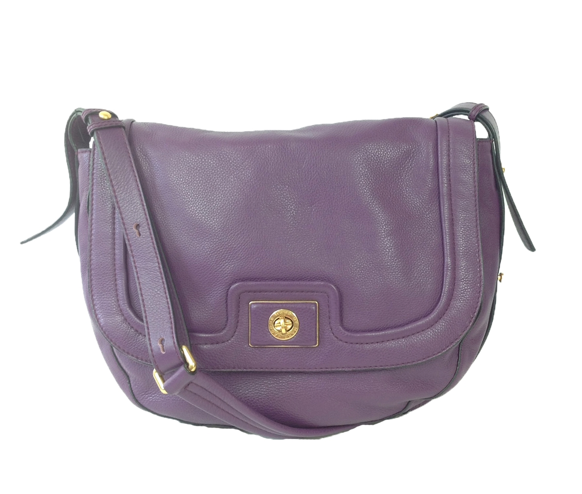 Marc Jacobs Purple Leather Shoulder Bag C4xb3hb9