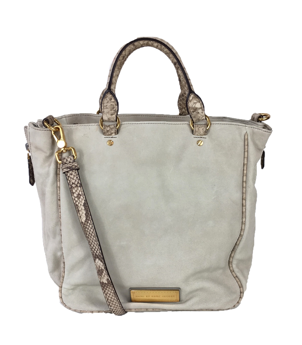 70e12b8cdbc Marc by Marc Jacobs Washed Up Snake Embossed   Suede Tote ...