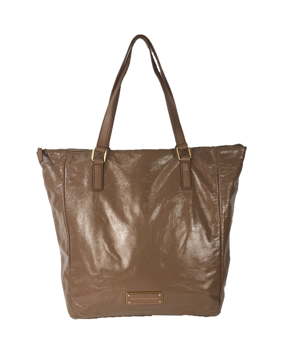 Marc by Marc Jacobs Take Me Glazed Leather Tote