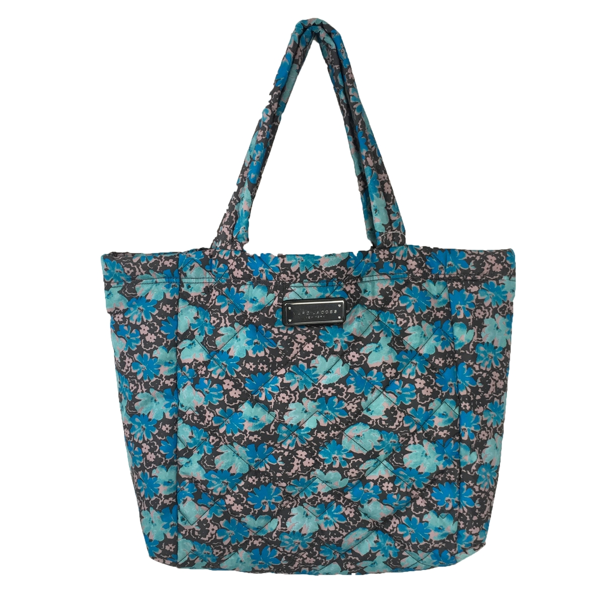 fb0a8093b62f Marc Jacobs Quilted Nylon Floral Print Large Tote