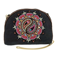 Mary Frances Lipstick Beaded Crossbody Travel Pouch