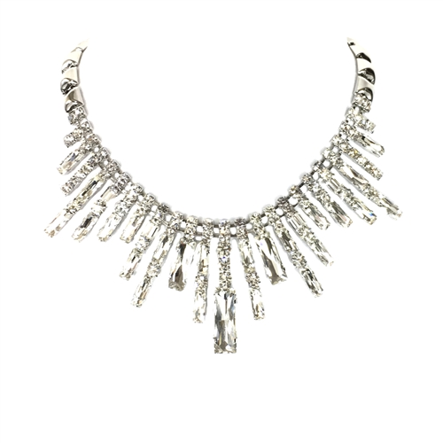 Natasha Crystal Spray Statement Necklace