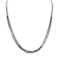 Michael Kors Tubular Bead Snake Chain Necklace, Silver