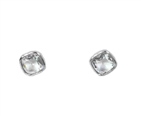 Michael Kors Clear Cushion Cut Stud Earrings