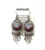 Machu Picchu Mermaid Beaded Large Drop Earrings