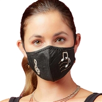 Mary Frances Music Notes Beaded 3D Reusable Face Mask