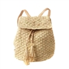 Mar Y Sol Zadie Woven Raffia Backpack Sling Bag