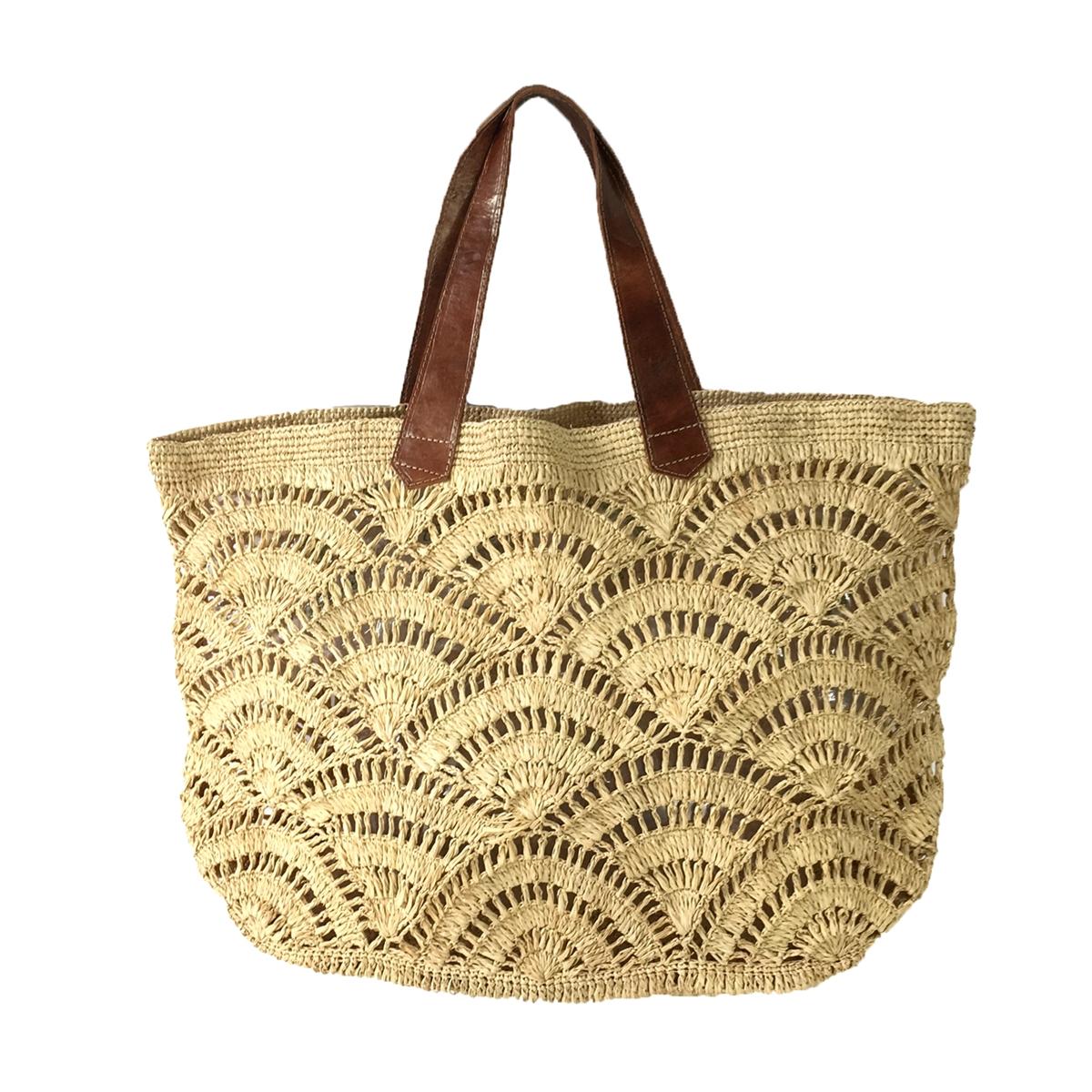 25c335c14c854 Mar Y Sol Tulum Crocheted Raffia Carryall Tote Bag