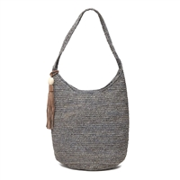 Mar Y Sol Aspen Open Weave Raffia Bucket Tote Bag