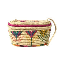 Mar Y Sol Esmerelda Woven Raffia Basket Shoulder Bag