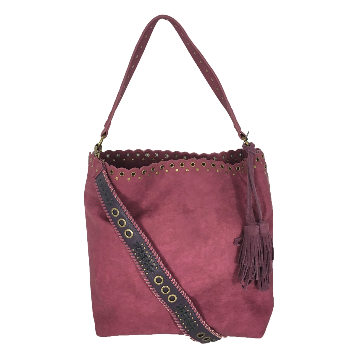 bda4cd36b3e3 Steven By Steve Madden Madaxx Faux Suede Bucket Hobo