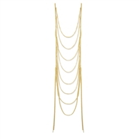 Zad Jewelry Chain Ladder Statement Necklace