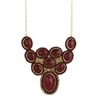 Zad Jewelry 'Abia' Beaded Bib Necklace