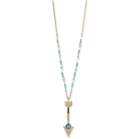 Zad Jewelry Flo Beaded Arrow Pendant Necklace