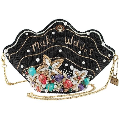 Mary Frances Disney The Little Mermaid Clam Shell Beaded Crossbody