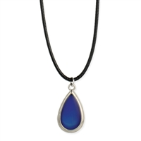 Zad Jewelry Teardrop Mood Pendant Choker Necklace