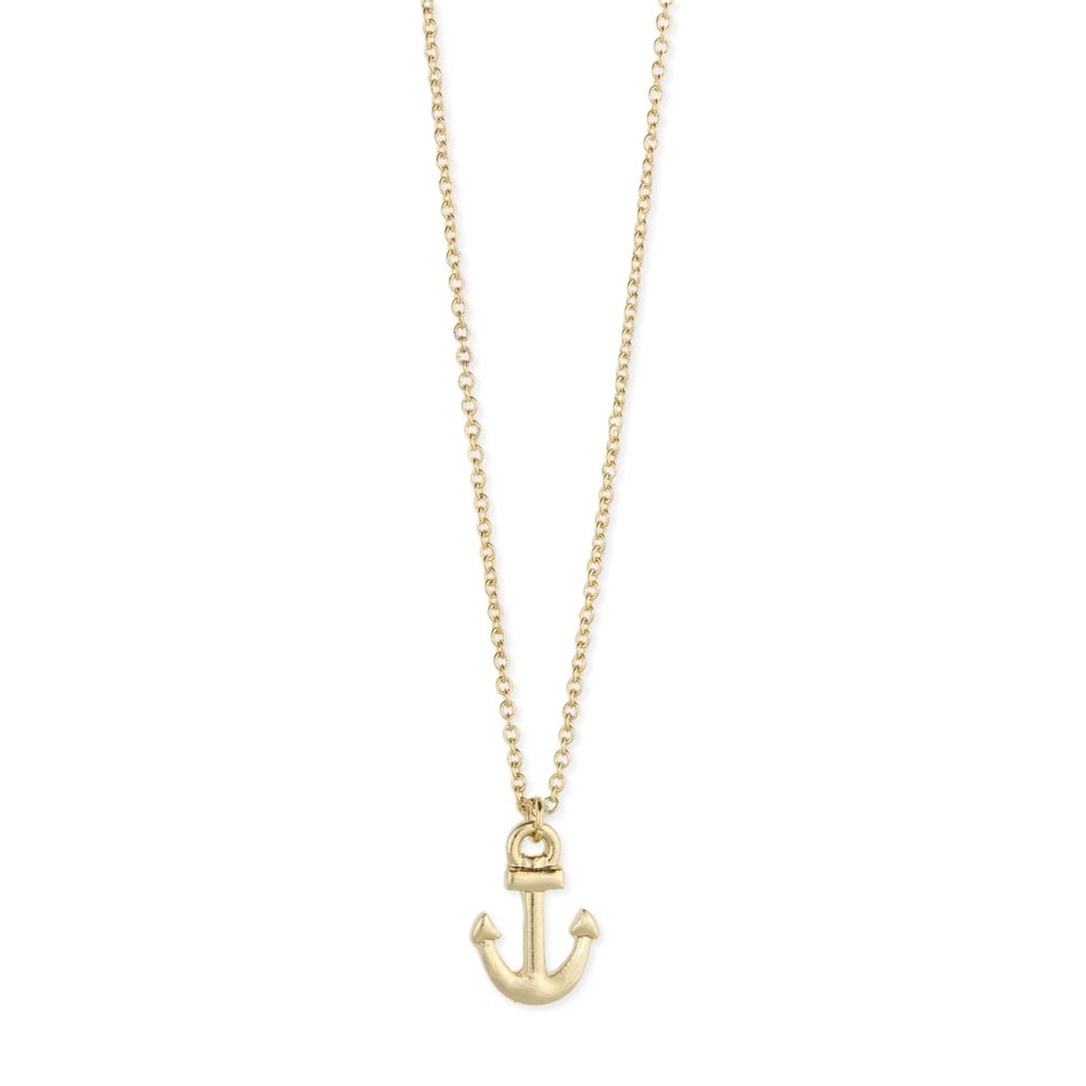 Zad jewelry mini anchor pendant necklace gold aloadofball Image collections