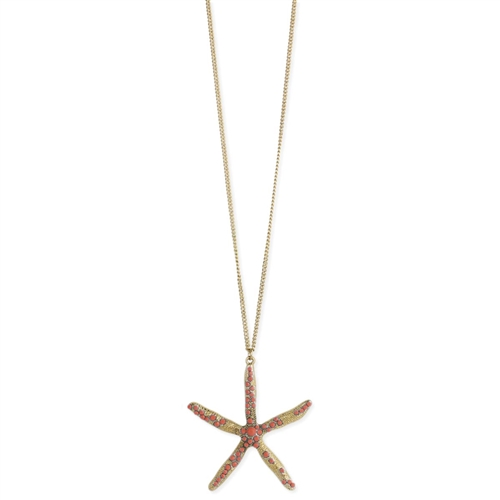 Starfish Pendant Long Necklace