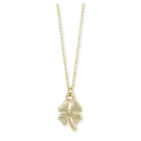 Zad Jewelry Lucky Shamrock Mini Charm Pendant Necklace