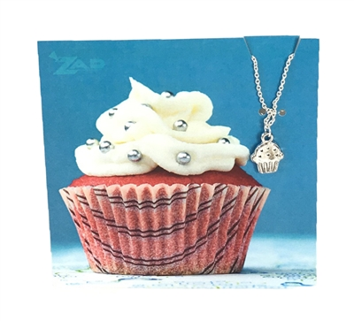 Zad Jewelry 'Sweets' Cupcake Mini Pendant Necklace
