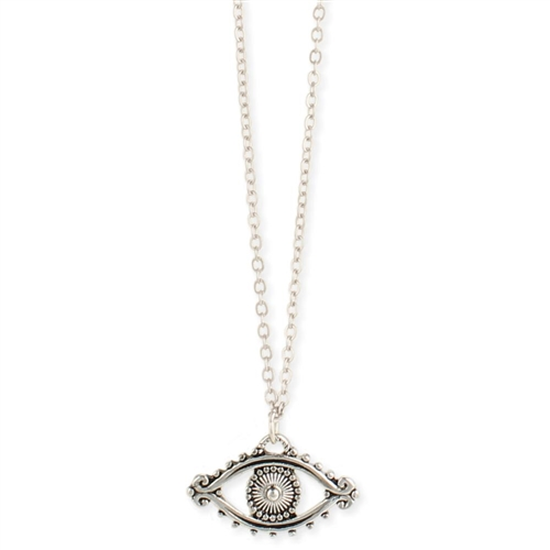 Zad Jewelry Evil Eye Pendant Necklace Silver
