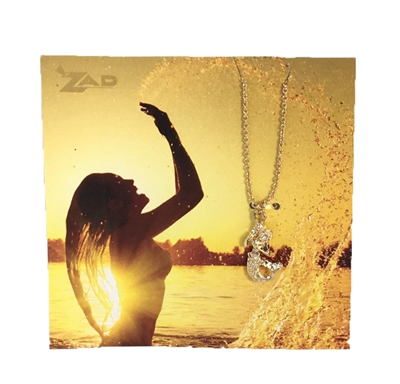 Zad Jewelry 'Mer-mazing' Mermaid Mini Pendant Necklace