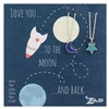 Zad Jewelry Moon & Star BFF Necklaces for 2
