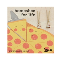 Zad Jewelry Homeslice Pizza Slice BFF Necklaces for 2