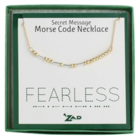 Zad Jewelry Fearless Morse Code Message Necklace
